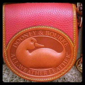Beautiful Red Leather Dooney and Bourke bag